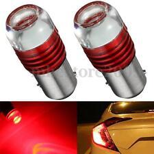 2x Strobe Flashing Red 1157 2357 LED Projector Bulb Car Tail Brake Light Lamp