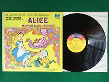 Disco Vinile LP 33 12'' + LIBRO (1971) WALT DISNEY - ALICE NEL PAESE MERAVIGLIE