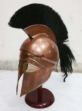 MEDIEVAL ANCIENT GREEK CORINTHIAN ARMOUR HELMET W/ PLUME GREEK SPARTAN HELMET