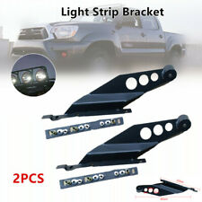 2pcs Off-road Car Roof LED Light Strip Mounting Bracket Car Upper Bar Fixed Rack