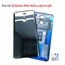 LG Q Stylus Plus Stylo 4 Q710 Q8 Battery Back Cover Door Housing Replace Black