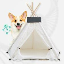 New listing M/L Removable Washable Cat Dog Bed Tent Lace Pet Kennels Pet Play House Bed Us