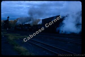 D&RGW 3 K-series engines steaming up in Chama 1967 ORIGINAL KODACHROME SLIDE