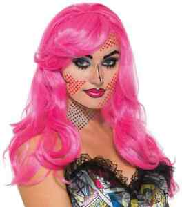 Katie Kapow Wig Pop Art 50's Comic Fancy Dress Halloween Adult Costume Accessory
