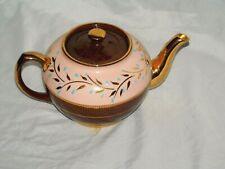 VINTAGE PRE-OWNED ENGLISH SADLER PORCELAIN TEA POT WITH GOLD
