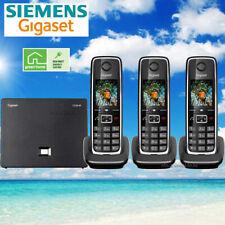 SIEMENS GIGASET C530IP CORDLESS HYBRID PHONE SYSTEM IP / LANDLINE - 3 PHONES