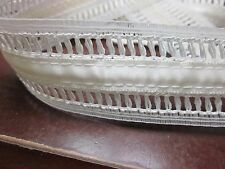 """15 yards 1 3/8"""" Off White SATINy RIBBON DELICATE INSERTION STYLE LACE"""