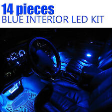 14pcs LED Blue Light Interior Package Kit for Jeep Wrangler / Cherokee