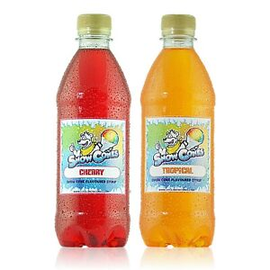 Snow Cones Syrup 'Sunrise' pack of 500ml Syrups + Free Strawspoons