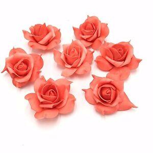 100pcs White Ivory Coral Wedding Flowers Foam Rose Head for Flower Kissing Balls