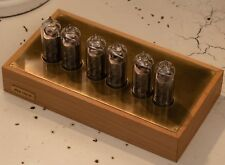 NIXIE TUBE CLOCK 6xIN-14 Wood and brass case BLUE BACKLIGHT vintage watch
