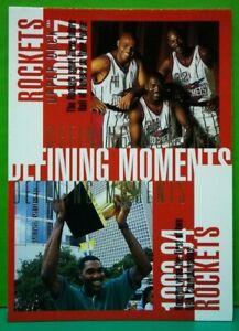 Hakeem Olajuwon subset card Defining Moments 1997-98 Upper Deck #340