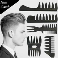 Styling Hairdressing Tool Durable Barber Shop Hair Brush Fork Comb Wide Teeth ~