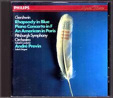 Andre PREVIN: GERSHWIN Rhapsody in Blue An Amercian ib Paris Piano Concerto CD