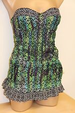 NWT Jessica Simpson Swimsuit Attached Dress 1 piece Sz S Strapless