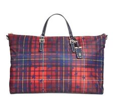Tommy Hilfiger Star Plaid Multicolor XLarge Weekender Travel Bag Tote Purse $148