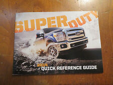 Super duty owners manual ebay 2014 ford super duty factory quick reference owners manual supplement booklet sciox Images