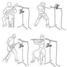 """Music Microphone Stand Holder Mount For 8""""-11"""" Tablet iPad 2 3 5 Sam Tab Nexus 7"""