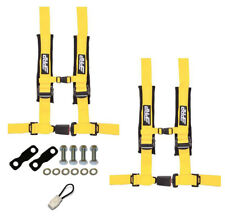 "PRP 4 Point 2"" Harness Seat Belts Automotive Style Latch Kit Yellow YXZ 1000R"