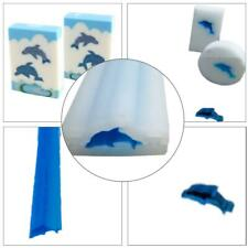 Dolphin Shape DIY Silicone Candle Soap Mould Templet Hand Craft Tube Column Mold