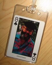 Johnny Russell Luggage Tag - Vintage 1980's Country Music Western Playing Card