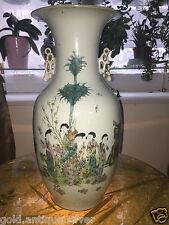 chine Antique chinois vase en porcelaine qianlong chinese porcelain XIXe H 43 CM