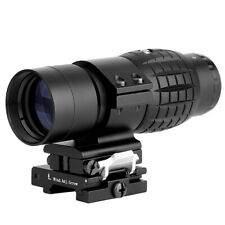 Hunting 3X Magnifier Tactical Scope Sight W/ Flip To Side 20mm Rail Mount