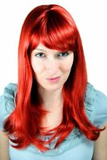 Wig Me Up Perruque pour Femme Rouge Cuivre Frange Long Lisse 50cm 6310-137
