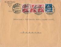 Briefumschlag Jahr 1914 verschickt von Zürich nach Bremen wertvolle Frankatur