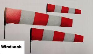 Windsack Windspiel rot-weiß 60 o. 100cm rot-weißer Windmesser Airport Flughafen