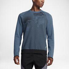 Nike International ~XL~Crew Sport Sweatshirt Men's Blue Fleece 831103-055 NWT