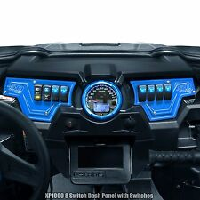 Polaris RZR XP1000 2 Piece Dash Panel Includes (6) Switches Blue Powdercoated