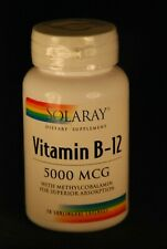 Solaray Vitamin B-12 5000mcg 30 Sublingual Lozenges