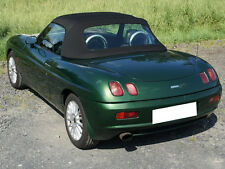 Fiat Barchetta Convertible Soft Top & Plastic Window 1995-2005 Black Vinyl