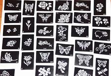5 Henna Tattoo Stencils Mehndi Henna DIY Template Tattoo Reusable Free Shipping