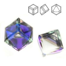 Swarovski 4841 Cube 6 mm Crystal Heliotrope (price for 1 piece)