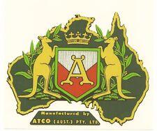 ATCO Australia Vintage Mower Repro Catcher Decal