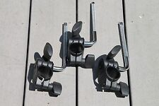 Roland V-Drums MDH-7U Hatched Pad Mount & L-Rod Lot of 3