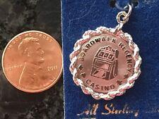 Casino Nos on Card For Bracelet Vintage Sterling Silver Charm Regency Boardwalk