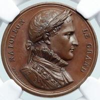 1800's FRANCE FRENCH BATTLES Montagny NAPOLEON BONAPARTE Medal Token NGC i87852