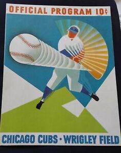 1960 Chicago Cubs v Braves HANK AARON HR NM hand-scored Wrigley June 29 1960