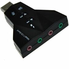 USB Sound Card Virtual 7.1 Channel 2.0 Stereo Audio Adapter Dual Microphone