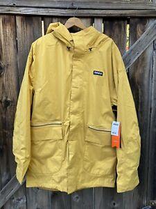 ThirtyTwo Blythe Hooded Snowboard Jacket Yellow Mens Medium NWT