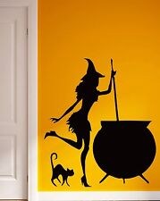 Wall Stickers Vinyl Decal Witch Cauldron Witty Decor for Kitchen (ig717)