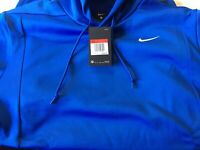 NIKE Therma Dri-Fit AO5972-493 Heavyweight Blue Pullover Hoodie Jacket Men Large