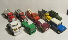 Vintage Matchbox Hot Wheels LOT of 9 TRUCKS & TRACTOR TRAILORS VG-/VG+