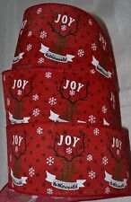 Wired Ribbon~Christmas Red~Joy To The World~Rustic Deer~Black~Holiday Buck~Bow