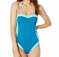 NWT La Blanca Women's Modern Muse One-Piece Swimsuit Women's Blue Sz 12