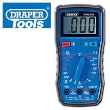 DRAPER DIGITAL MULTIMETER ELECTRCIAN TOOL ELECTRONICS TESTER AC DC LCD SCREEN