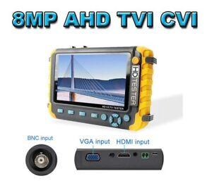 8MP/4K BNC HD CCTV Tester Monitor AHD CVI TVI HDMI VGA Input UTP Tester 12V